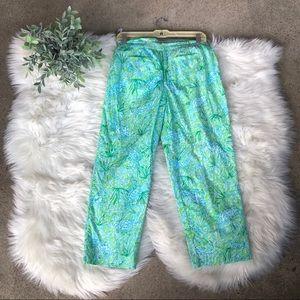 Lilly Pulitzer Alligator Crocodile Print Pants